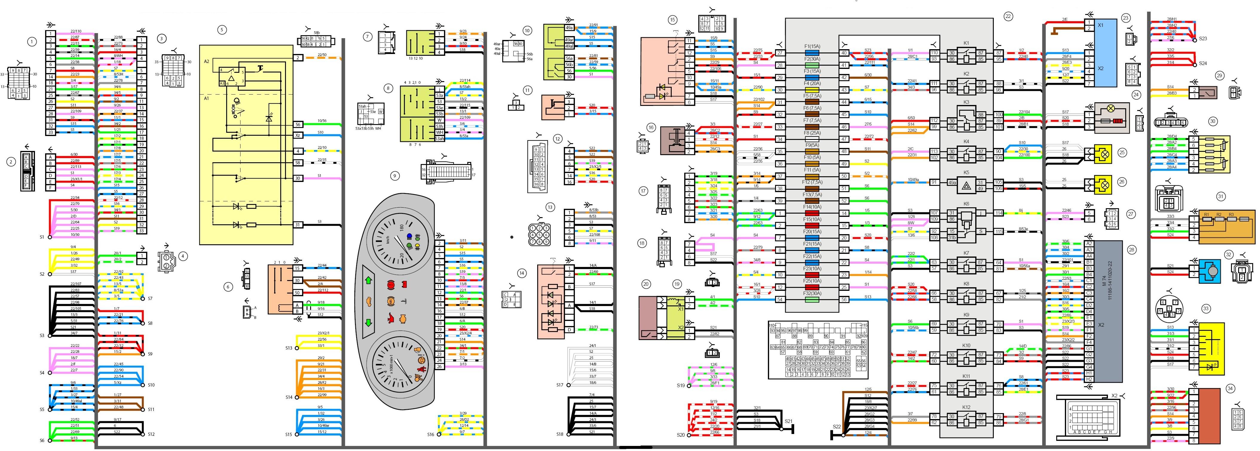 схема подключения сигнализации на ваз 21214