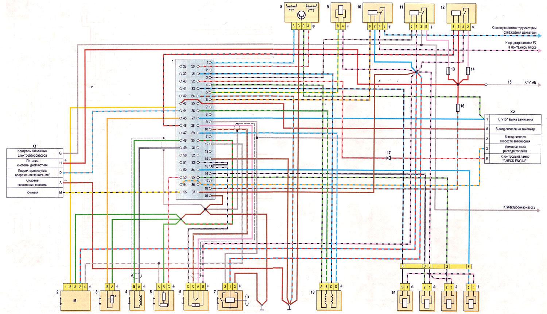 Схема инжектор ваз 2107