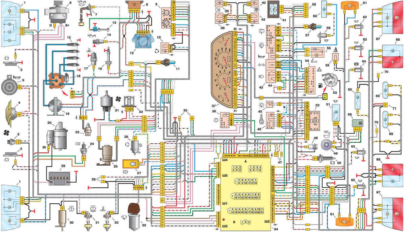 Схема двигателя ваз 2110 карбюраторный