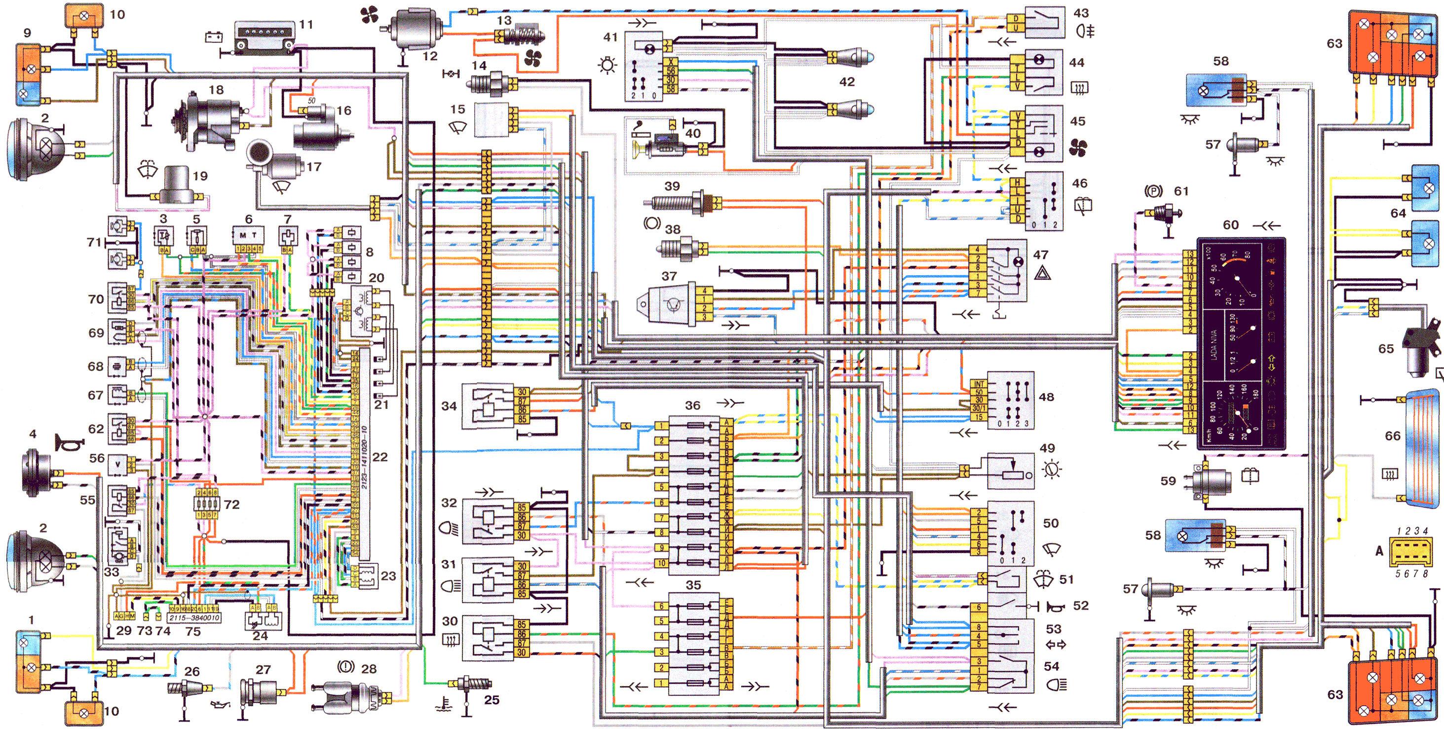 эл схема датчика вкл вентилятора ваз 2109