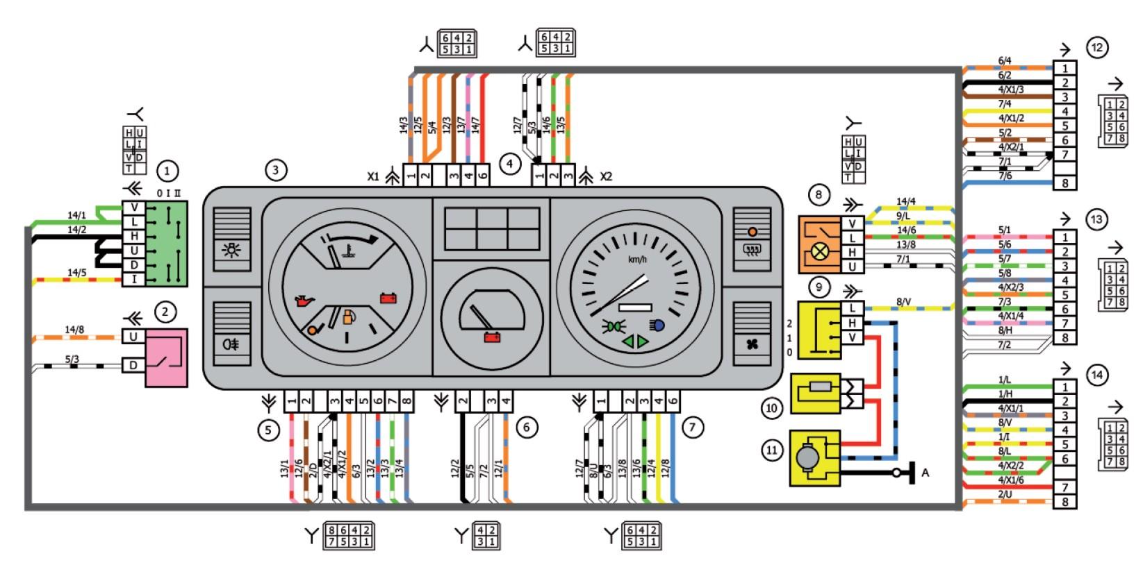 схема приборов панель газ 3110