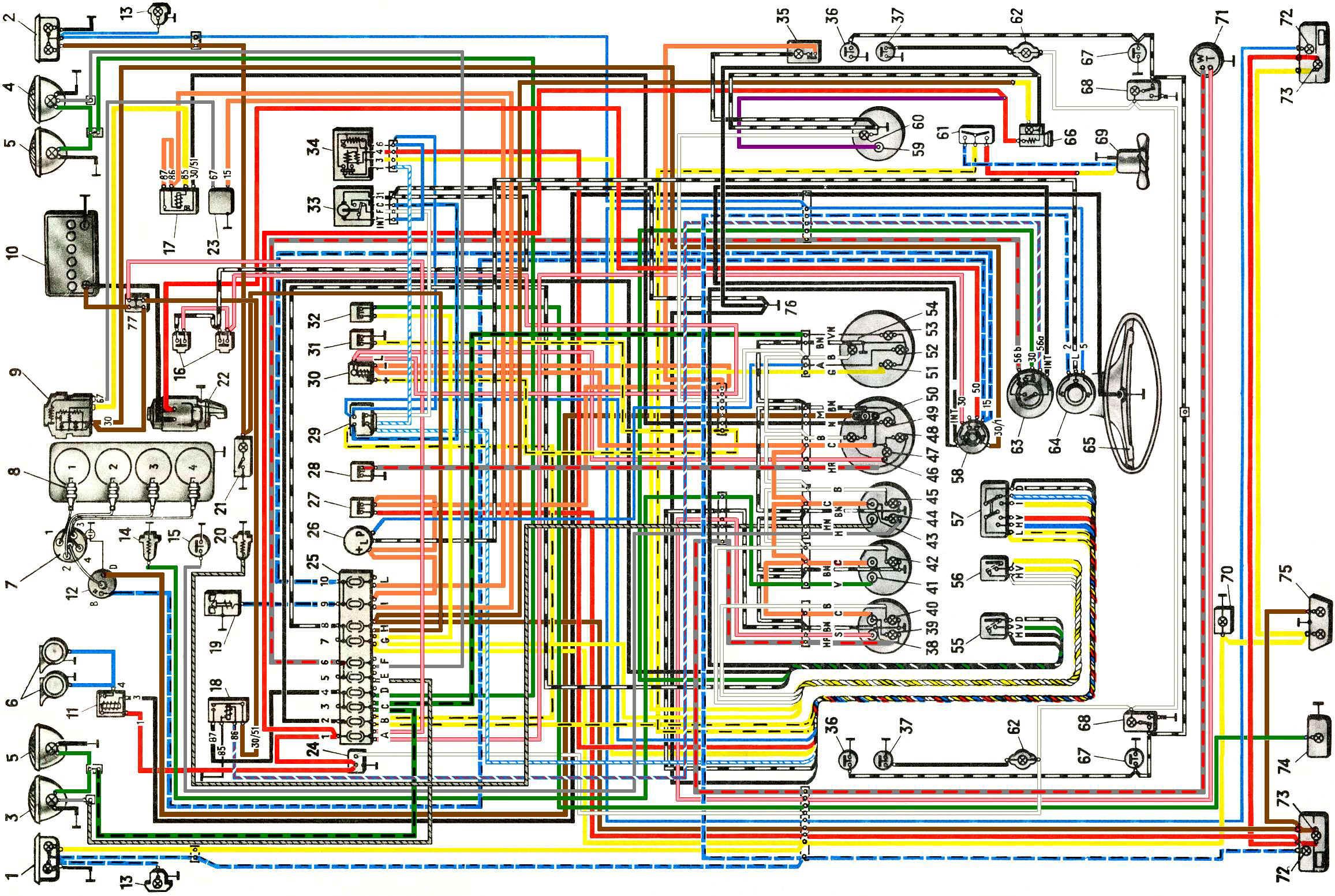 Схема включения системы охлаждения 704