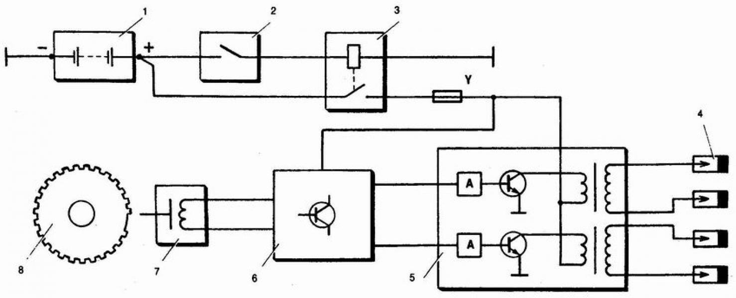 схема подключения сигнала ваз 2110
