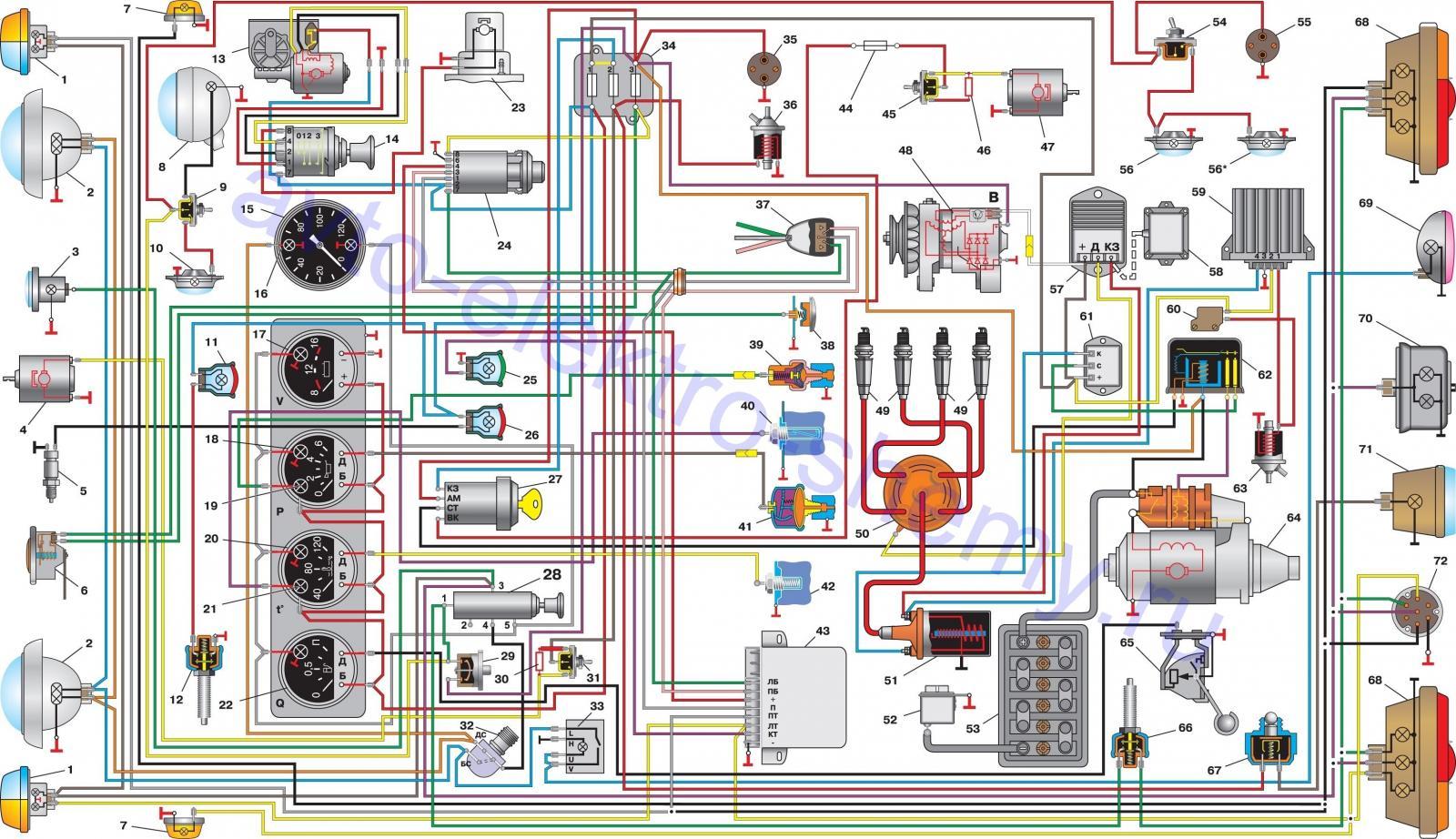 Схема электропроводки уаз 2206 фото 94