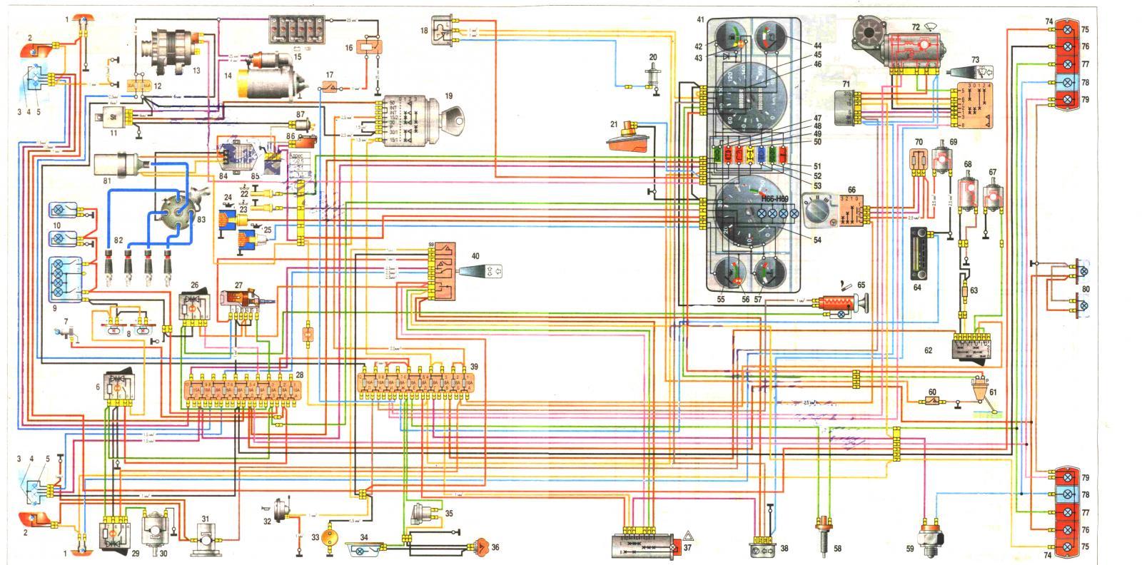 Газель умз 4216 схема электрическая принципиальная