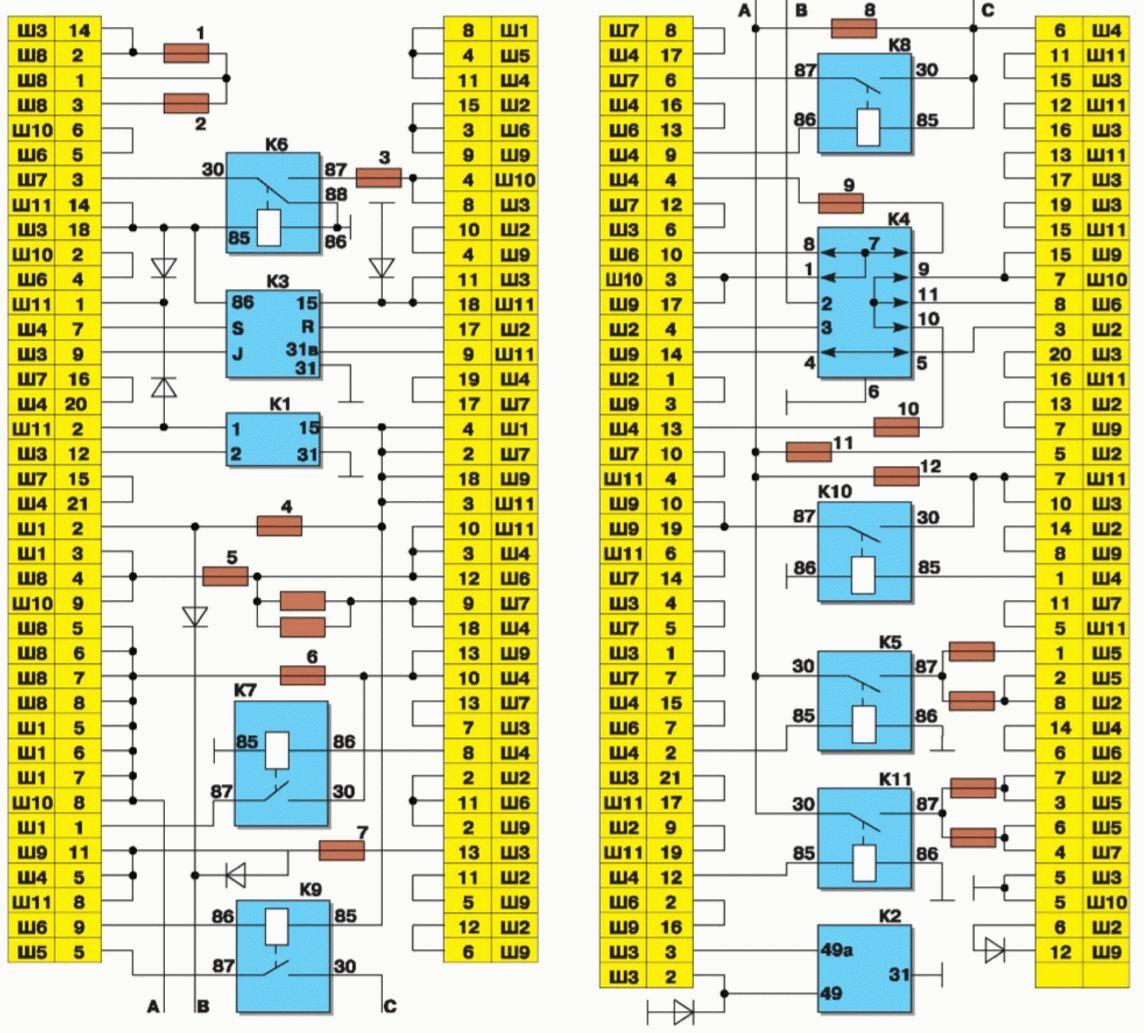 блок предохранителей ваз 21099 карбюратор схема