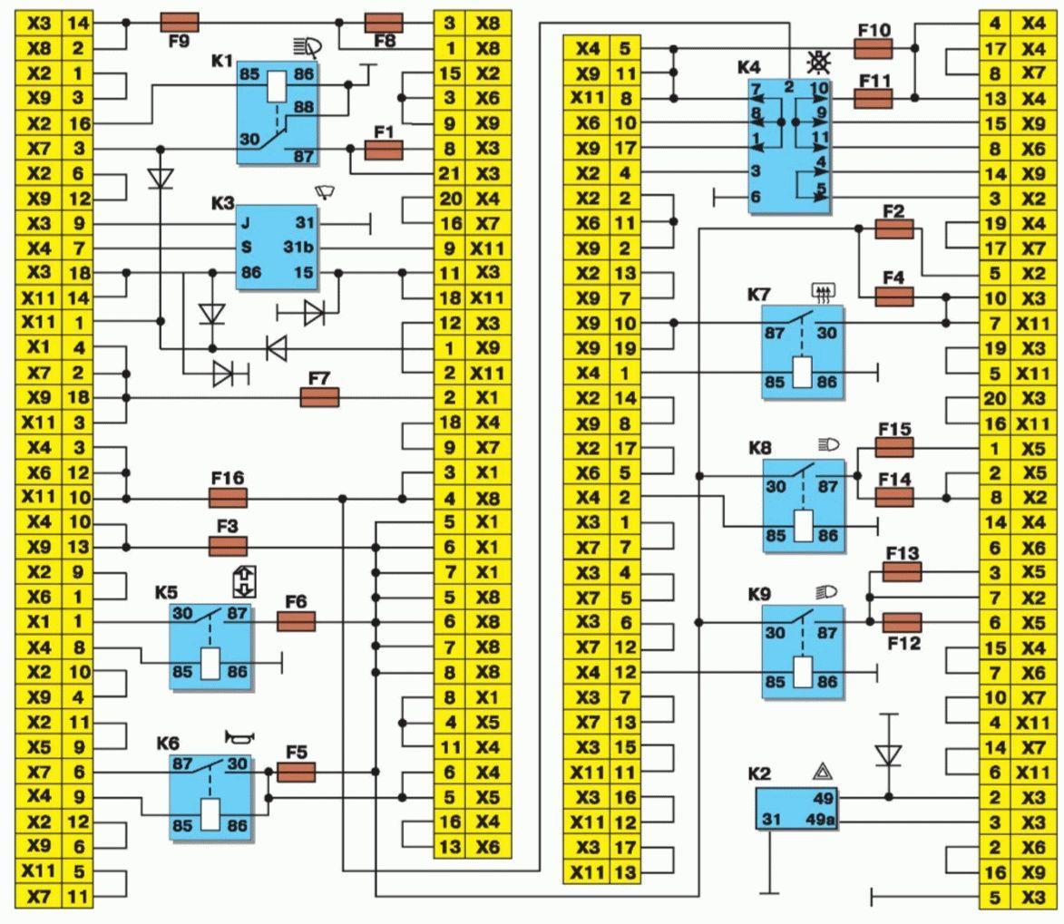 Схема и расположение предохранителей ваз 2108 фото 732