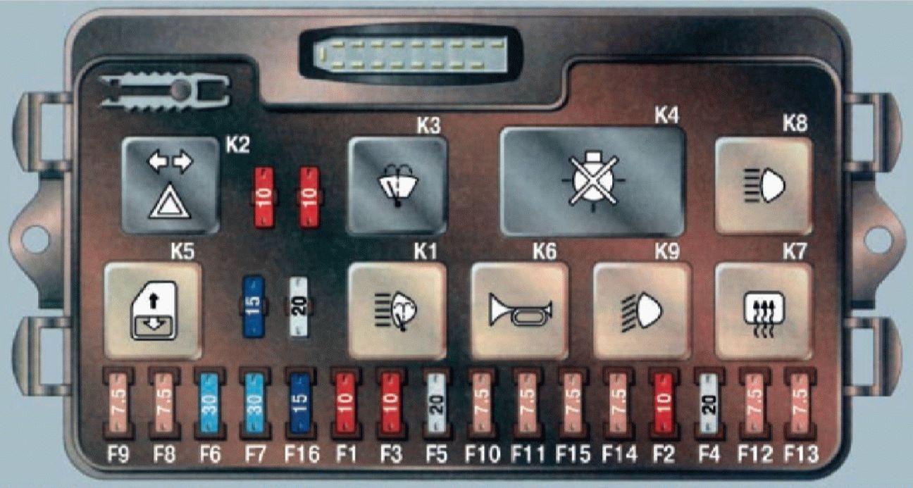 электрическая схема ближнего света фар газ-3302