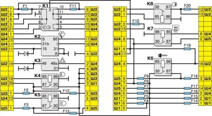 Схема предохранителей на ваз 2110 инжектор