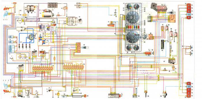 Схема электрическая для автомобилей ГАЗ 3302, ГАЗ 2705