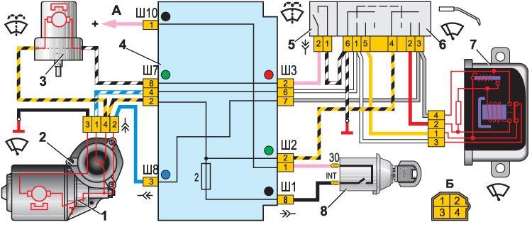 Электродвигатель омывателя ветрового стекла