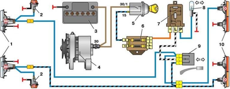 Схема поворотов схема подключения фото 256