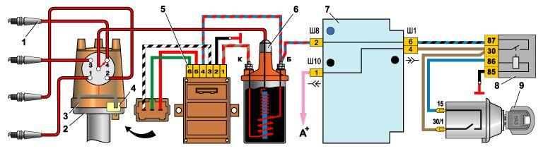 Схема подключения бесконтактной системы зажигания фото 207