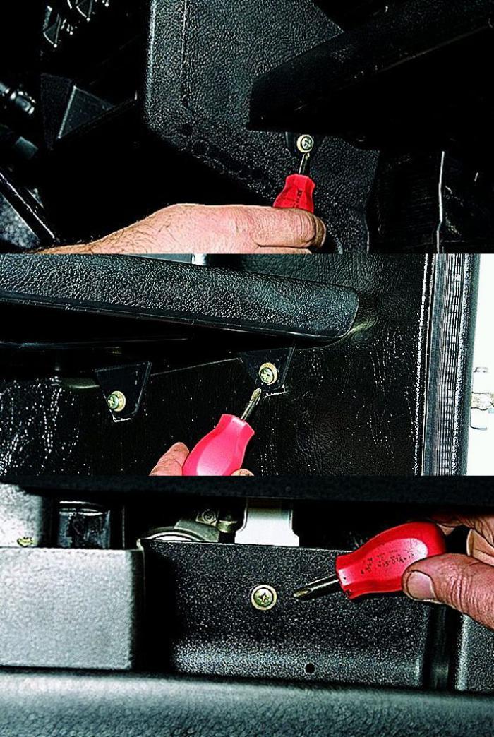 Замена мотора отопителя нива